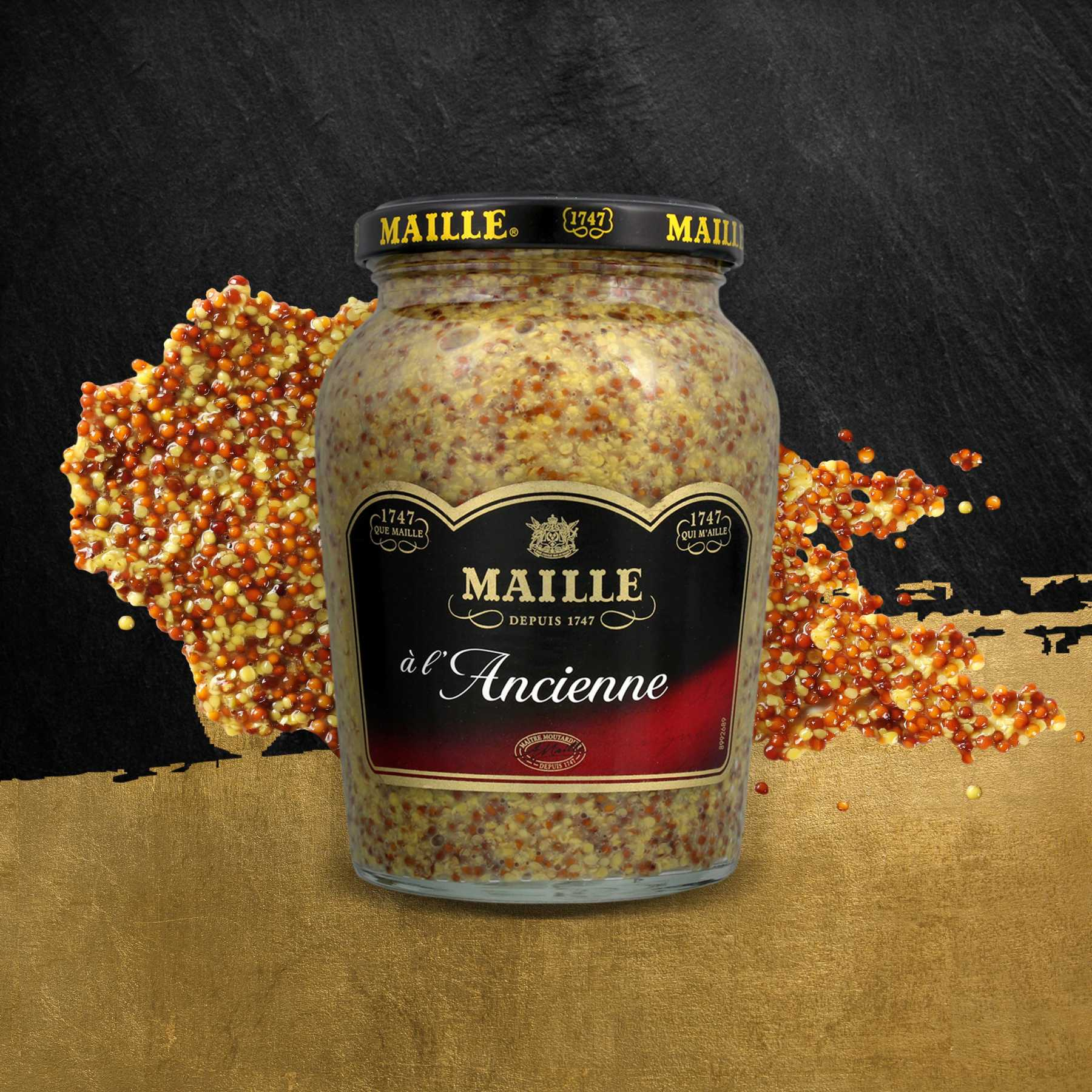 Maille - Moutarde à l'Ancienne Bocal 380 g, new visual