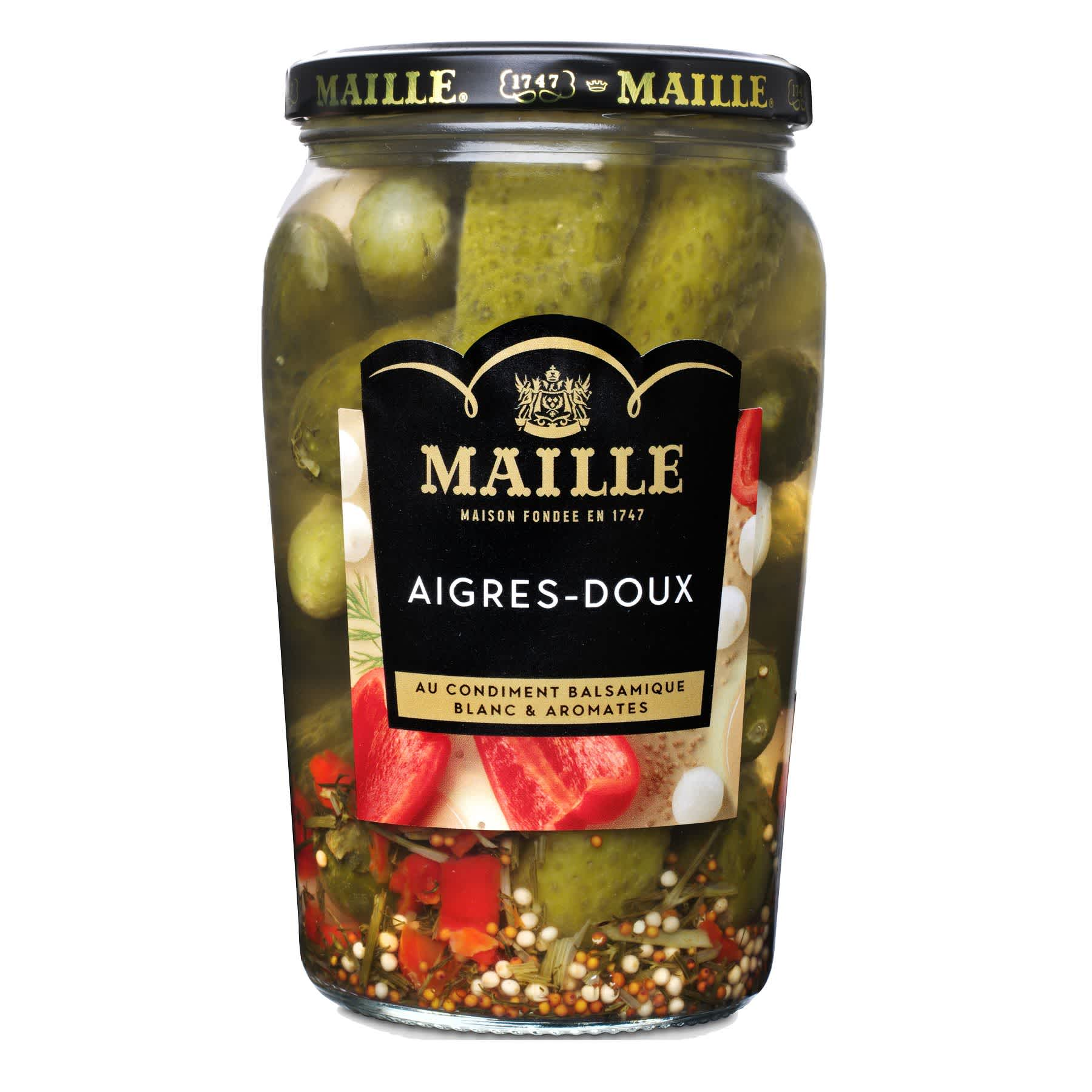 Maille - Cornichons Aigres-Doux Bocal 355 g, overview
