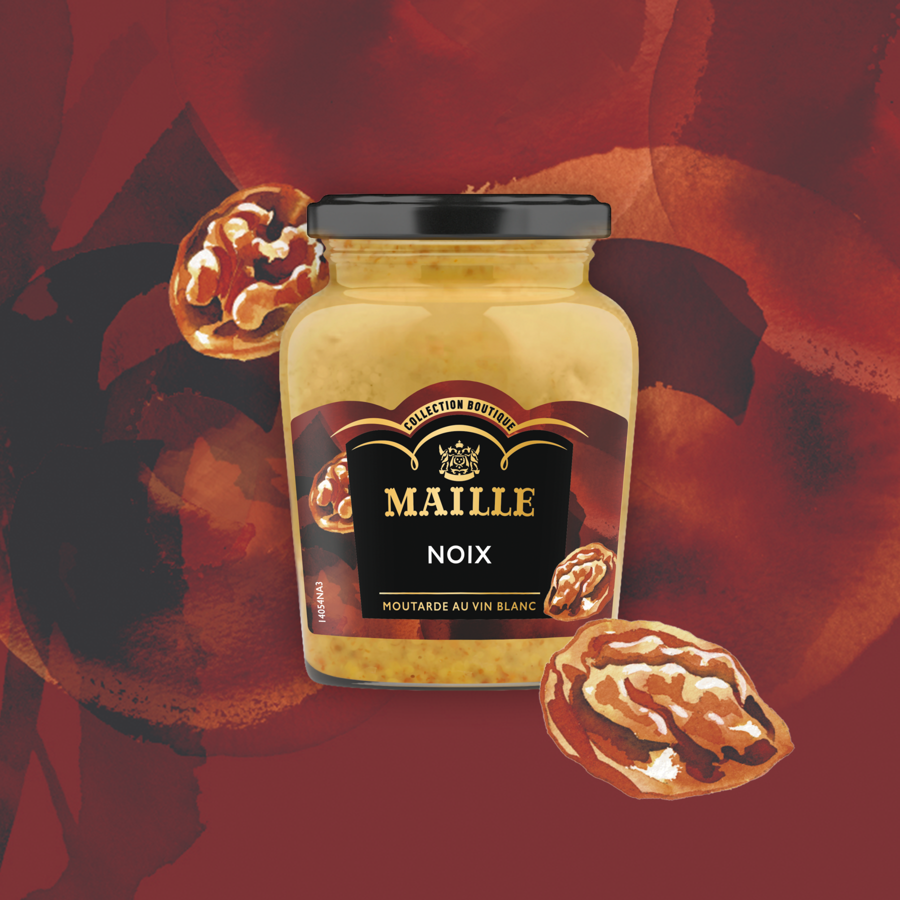 Maille - Moutarde au vin blanc, noix, 108 g, new visual