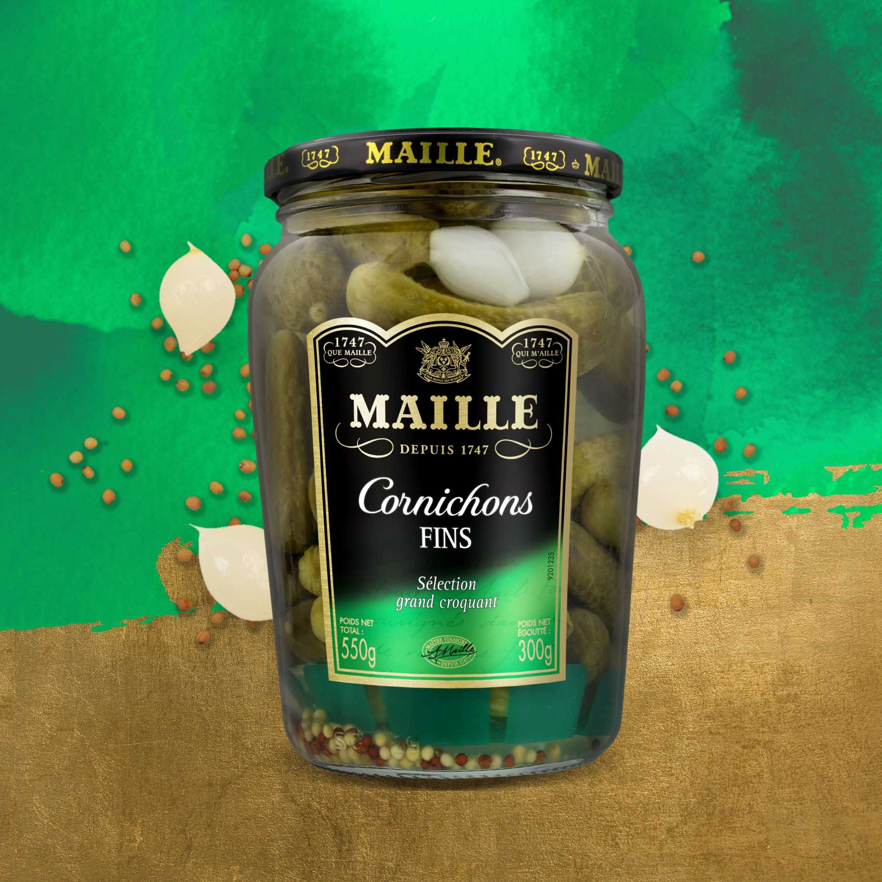 Maille - Cornichons Fins Bocal 300 g, new visual