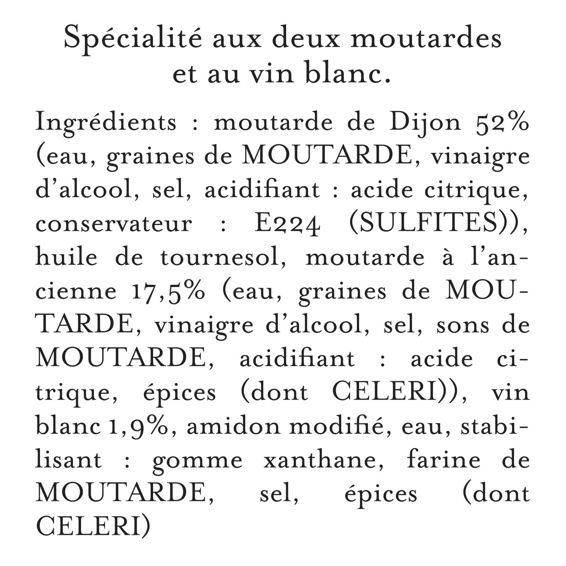 Maille - Spécialité à la Moutarde Fins Gourmets L'Originale Bocal 340 g, description