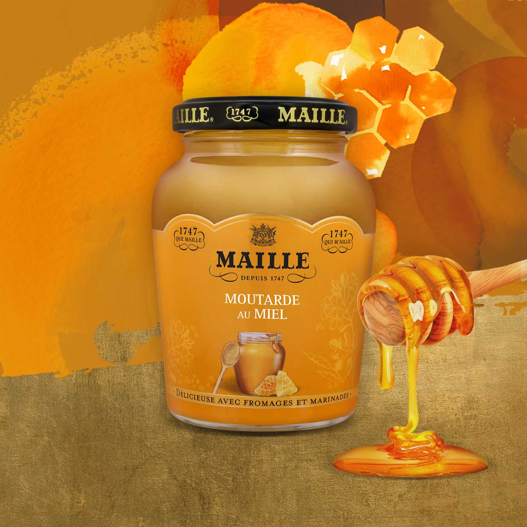 Maille - Moutarde Au Miel Bocal 230 g, new visual