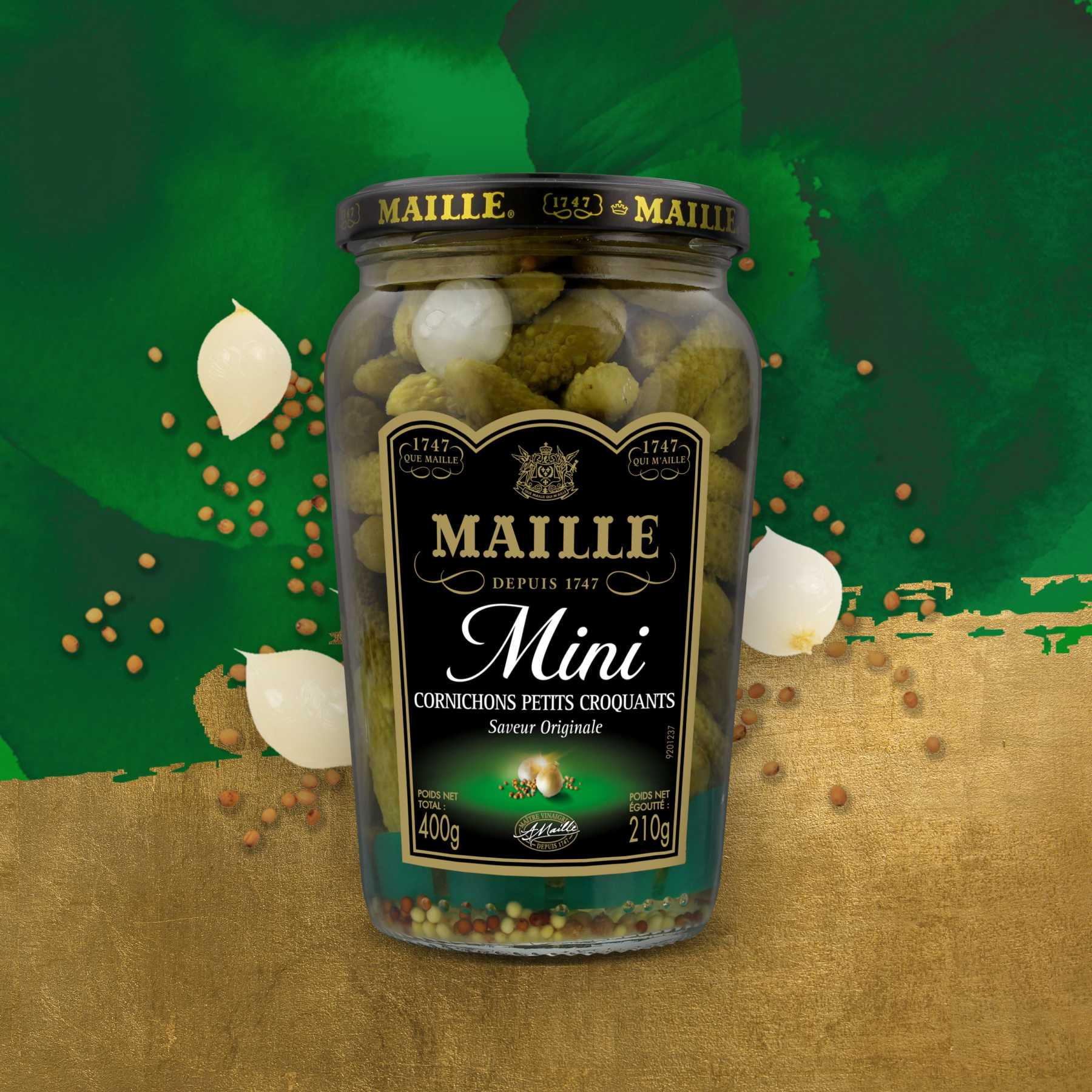 Maille - Cornichon mini l'original, 210 g, new visual