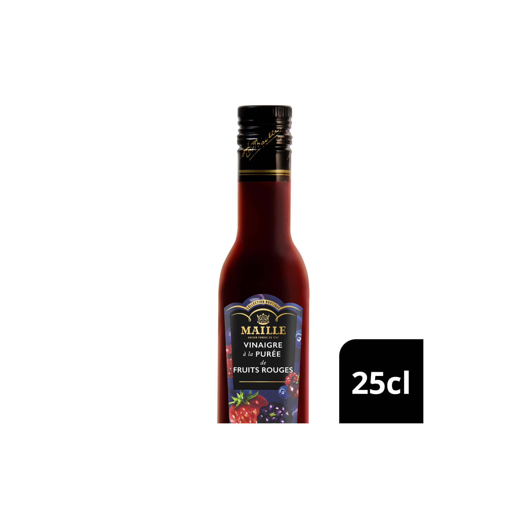 MAILLE VISUAL VINAIGRE FRUITS ROUGES 25CL HERO