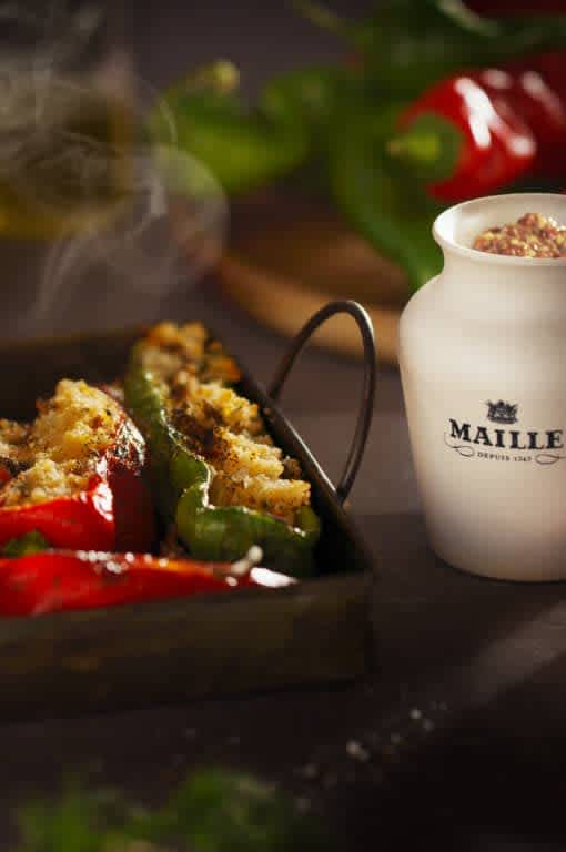 Maille Stuffed roasted horn peppers, gourmet