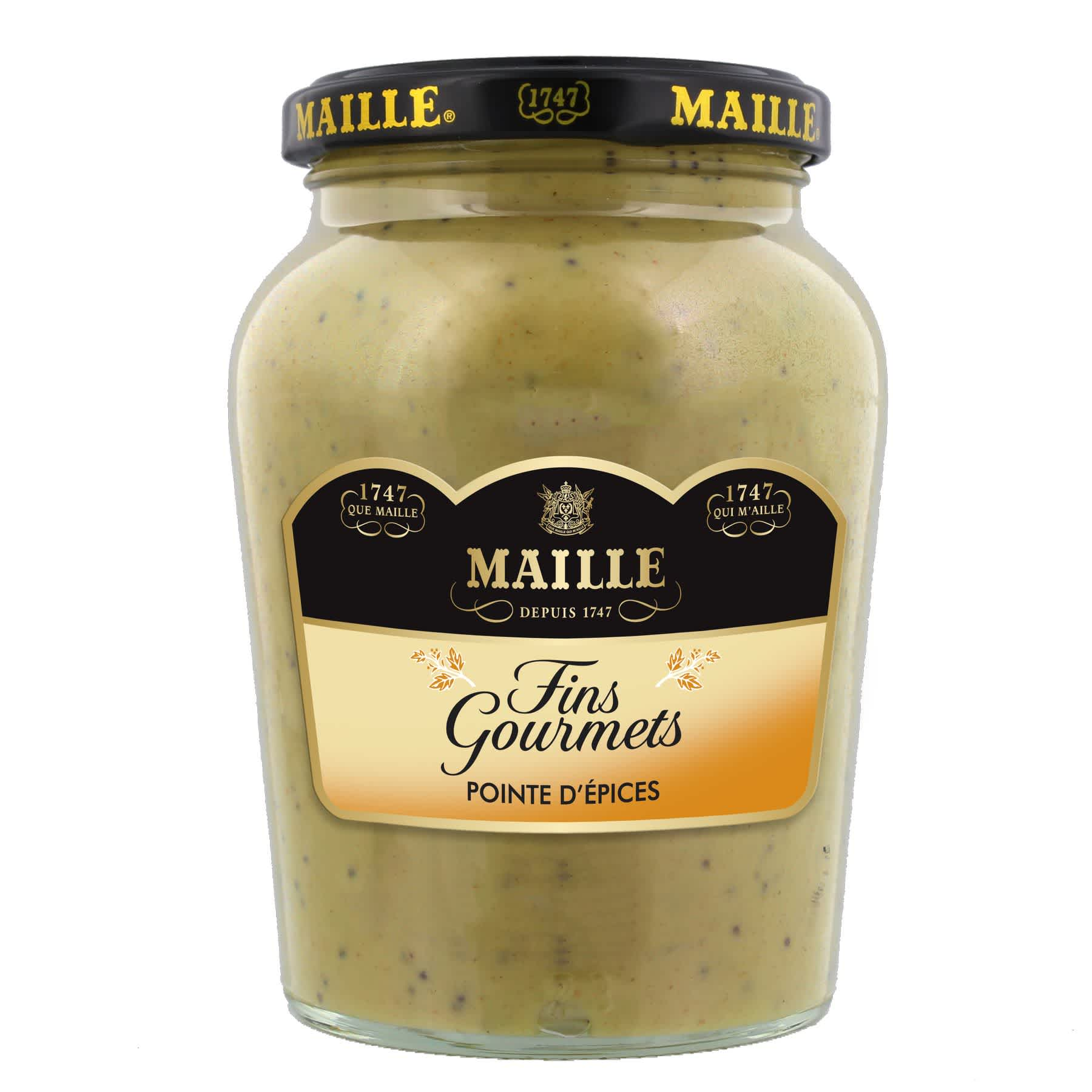 Maille Specialite a la Moutarde Fins Gourmets Pointe d Epices Bocal 340g, overview