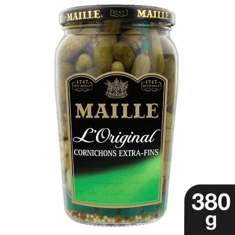 Maille Cornichons Extra-Fins Bocal 380g 1