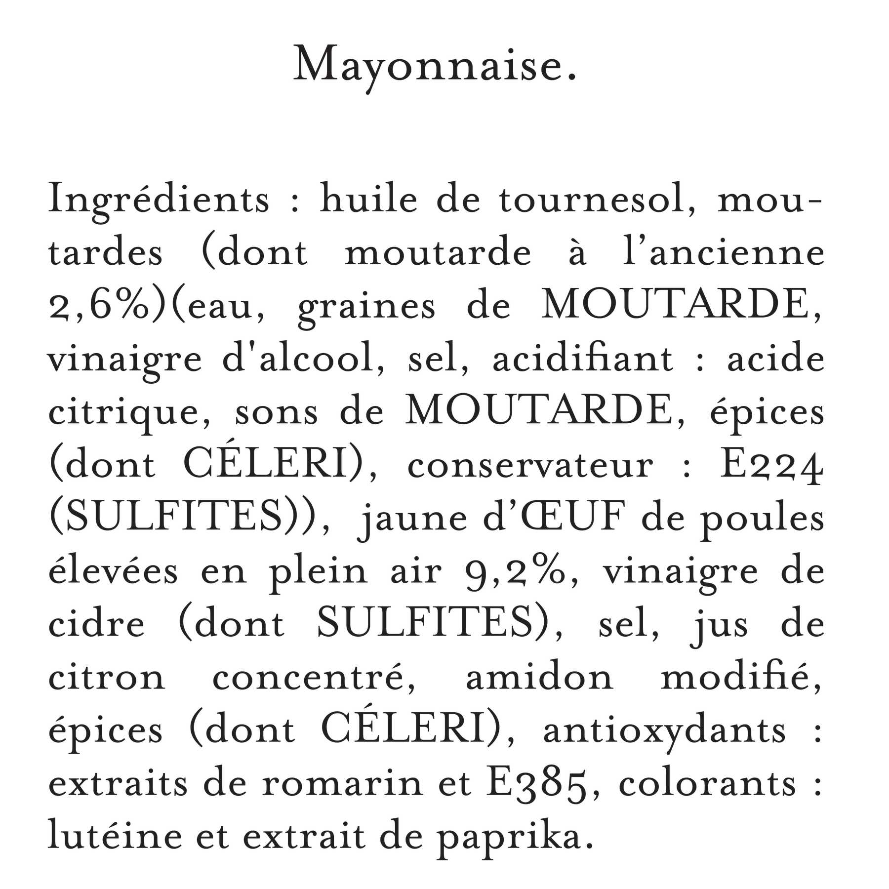 Maille - Mayonnaise Fins Gourmets Bocal 320 g, description