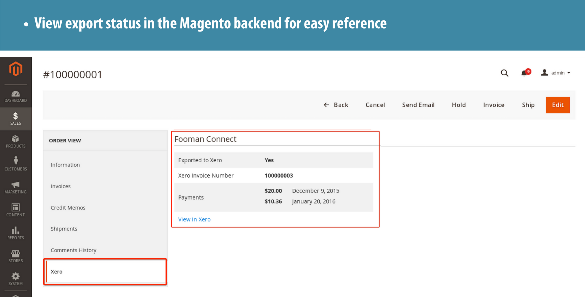 8 Magento Xero Backend Reference