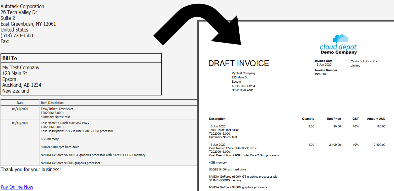 Autotask Invoice   Richard Walker