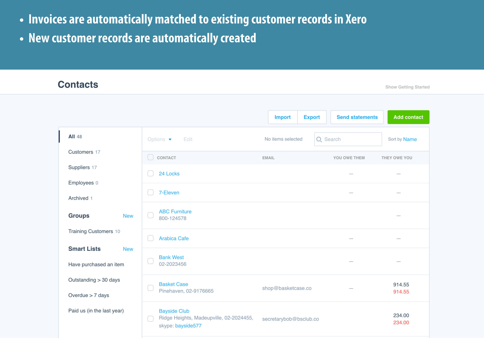 3 Magento Xero Automatic Customer Matching