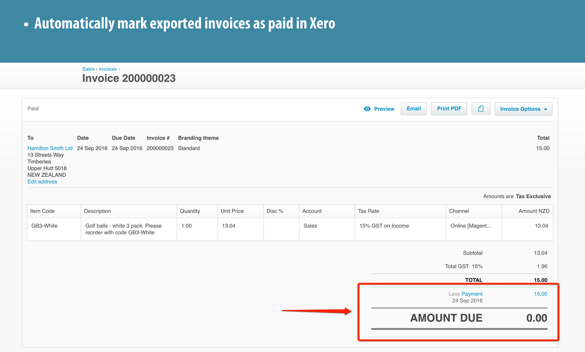4 Magento Xero Payments For Invoices