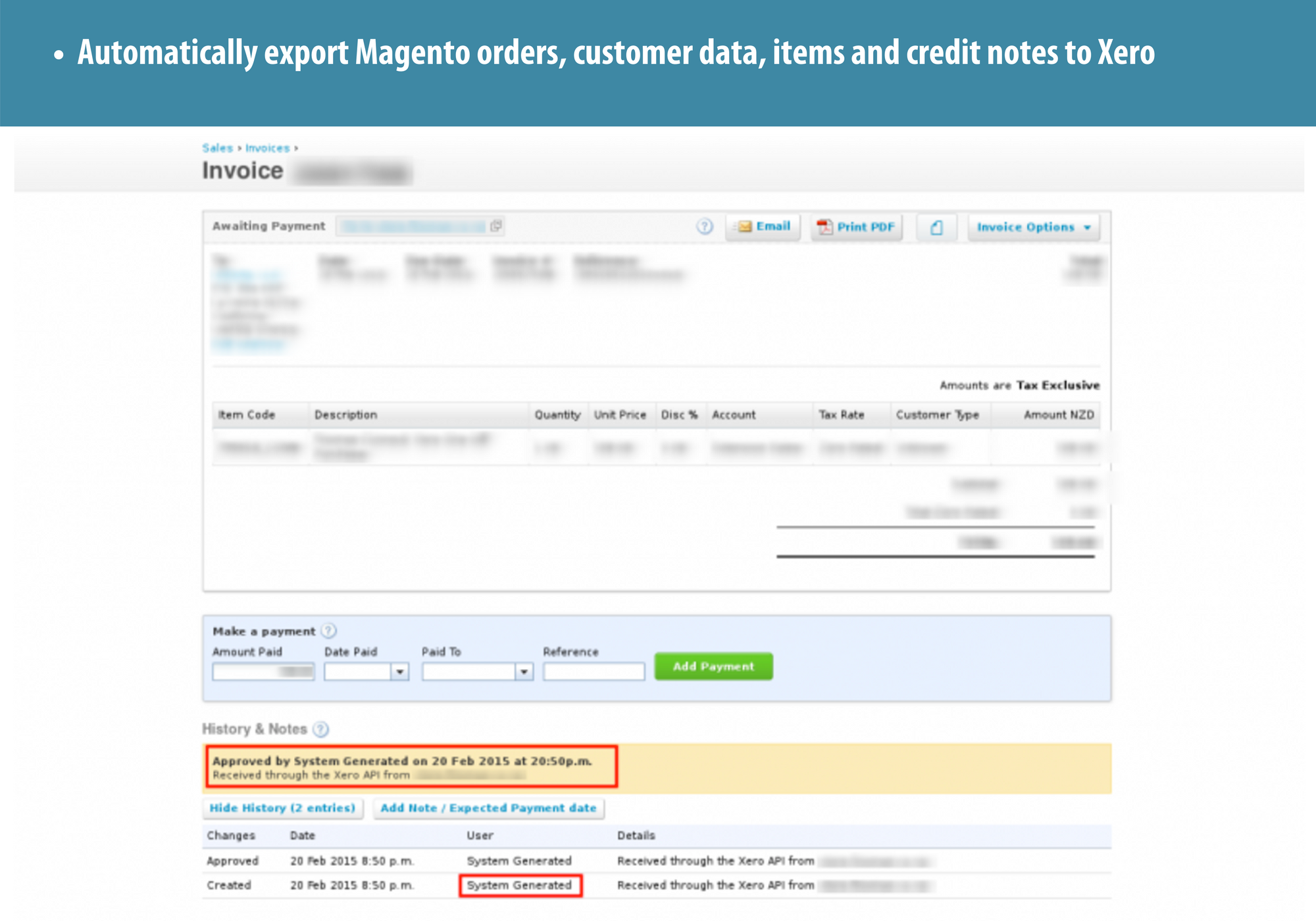 1 Magento Xero Integration Automatic Export