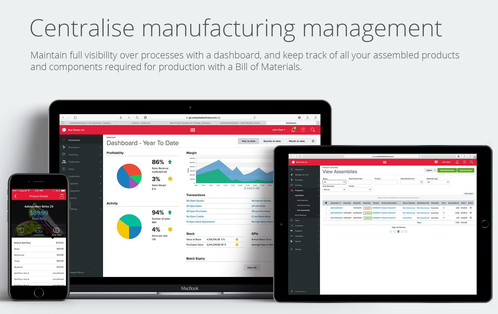 01 Centralise manufacturing management