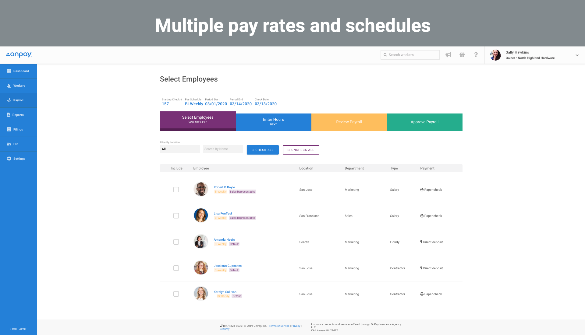5 Multiple pay rates and schedules