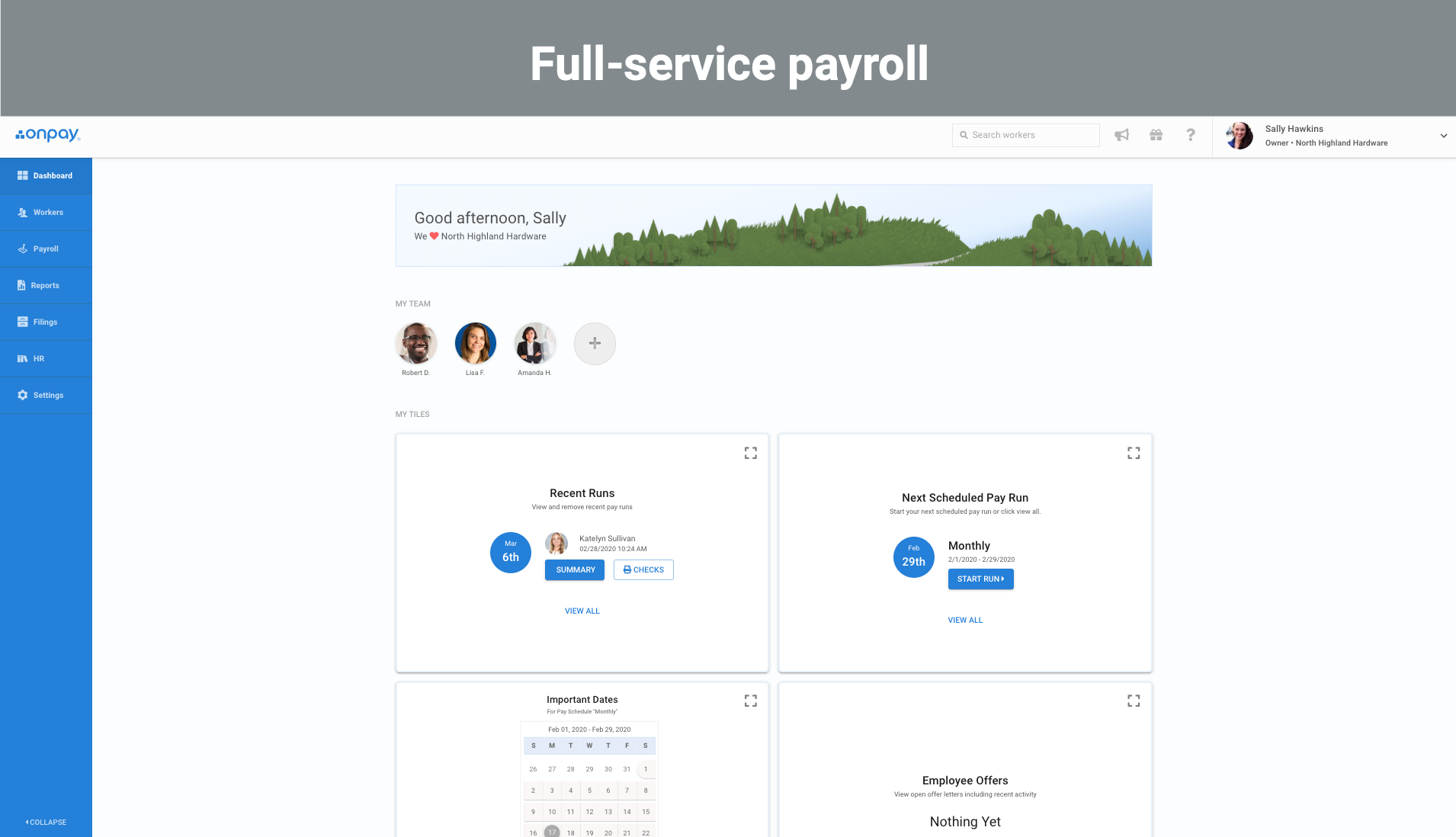 1 Full service payroll