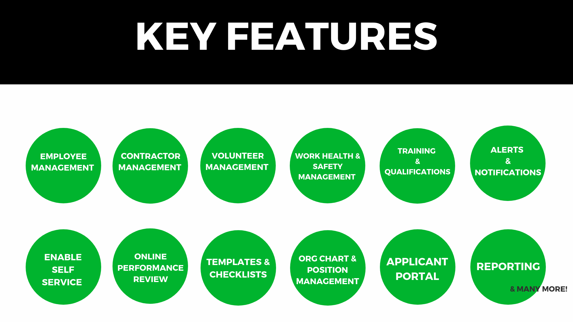 eHR Key Features