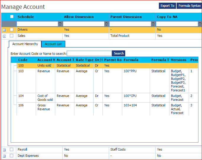 MAnage Account   Fin Driver