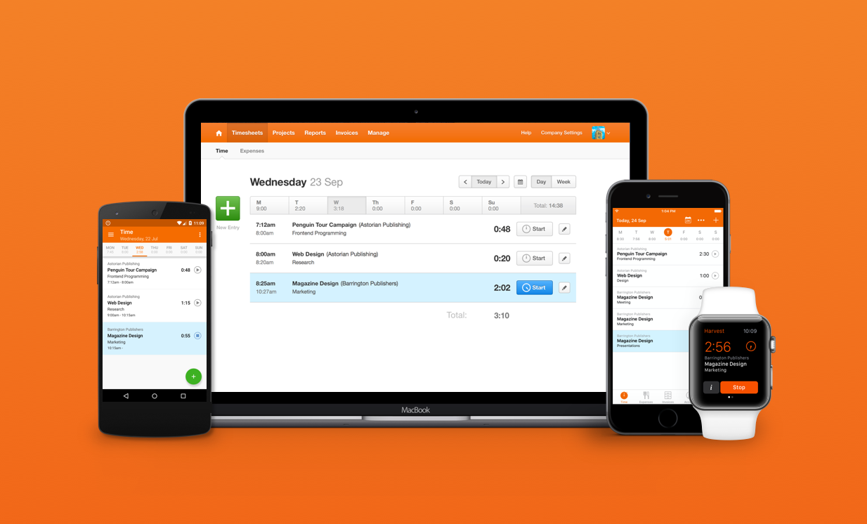 harvest xero 1 timesheet orange 2x