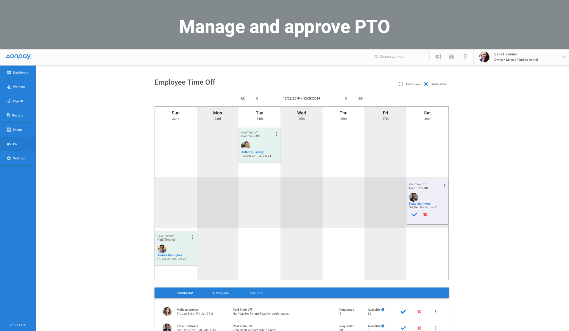 7 Manage and approve PTO