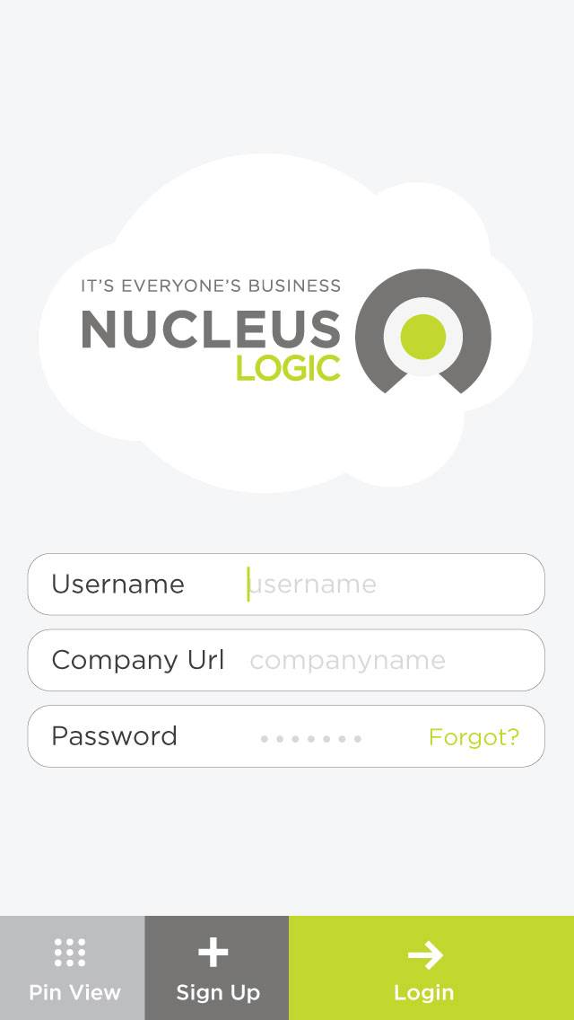 login 640x1136   Nucleus Logic