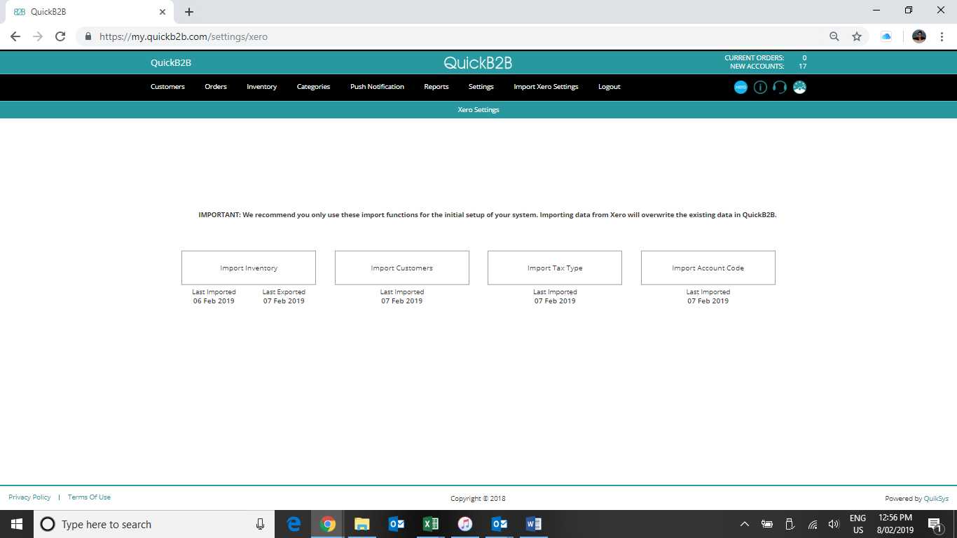 3 Import Xero Settings Page   Heather Quinn Jackson