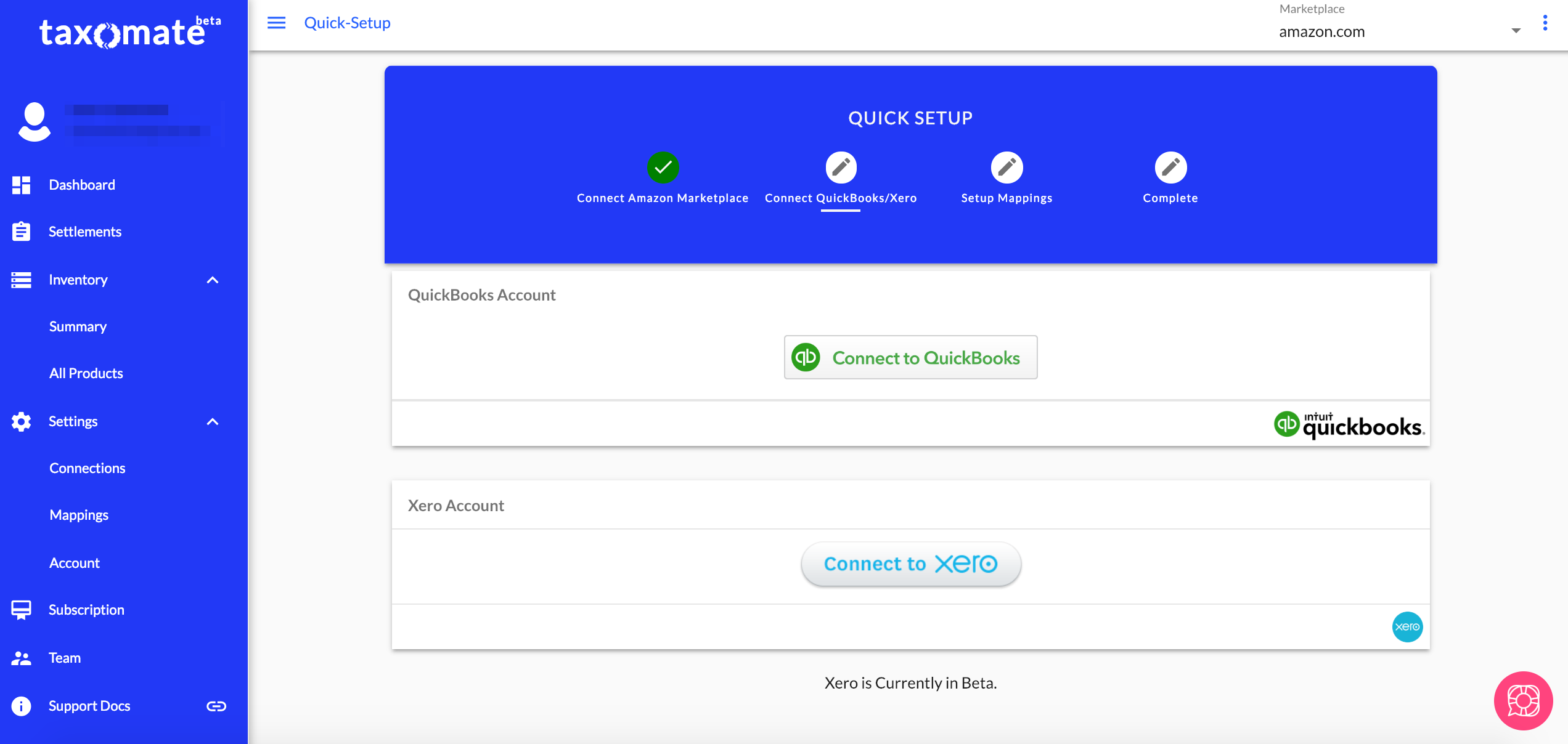 connect xero   taxomate Support