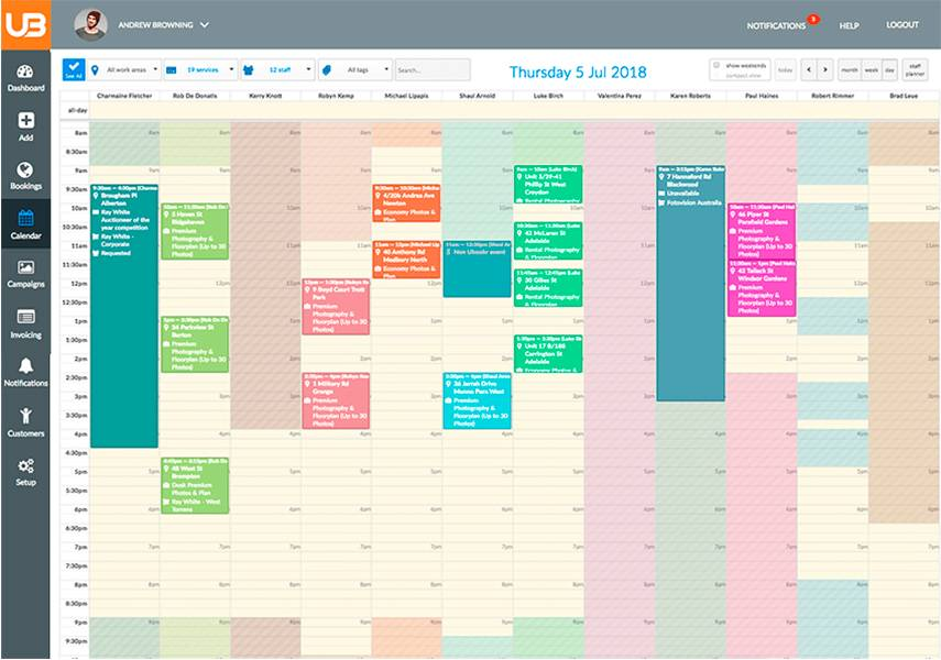 scheduling  software   Cameron Curdie