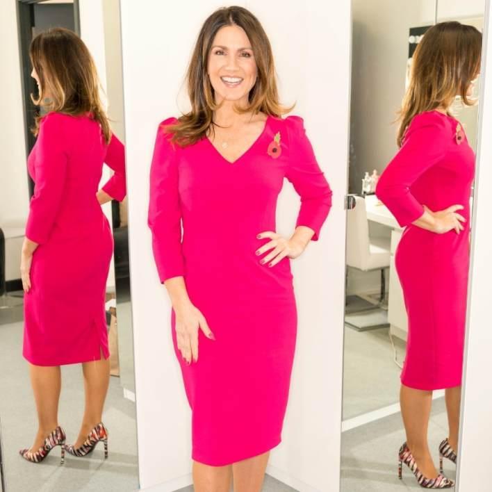 Susanna Reid, pink dress