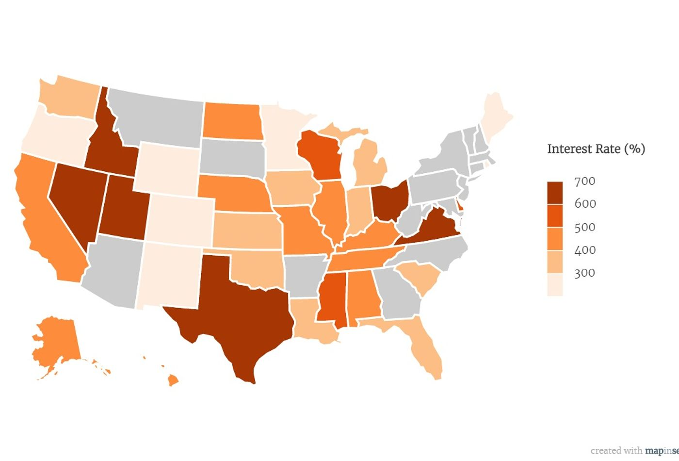 state by state payday lending