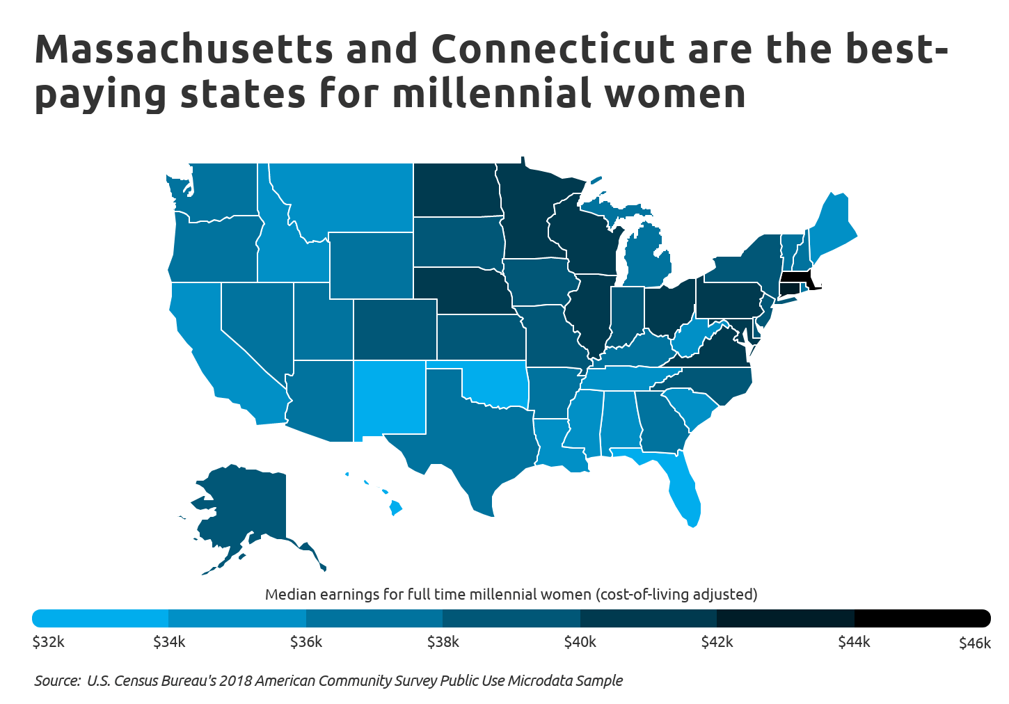 Chart3 Best paying states for millennial women