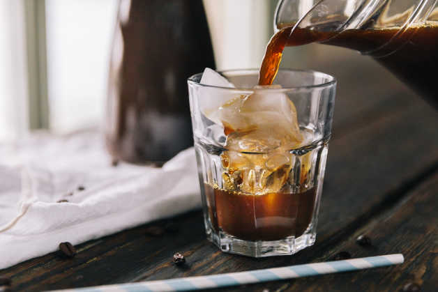 Nutrition Food Photos Iced Coffee Brewing Pouring