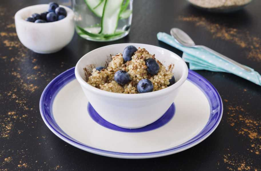 blueberry flax quinoa recipe
