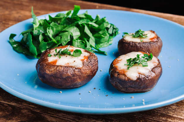 portobello mushrooms with mozzarella