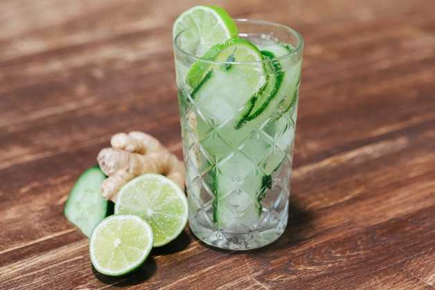 cucumber and ginger flavored water