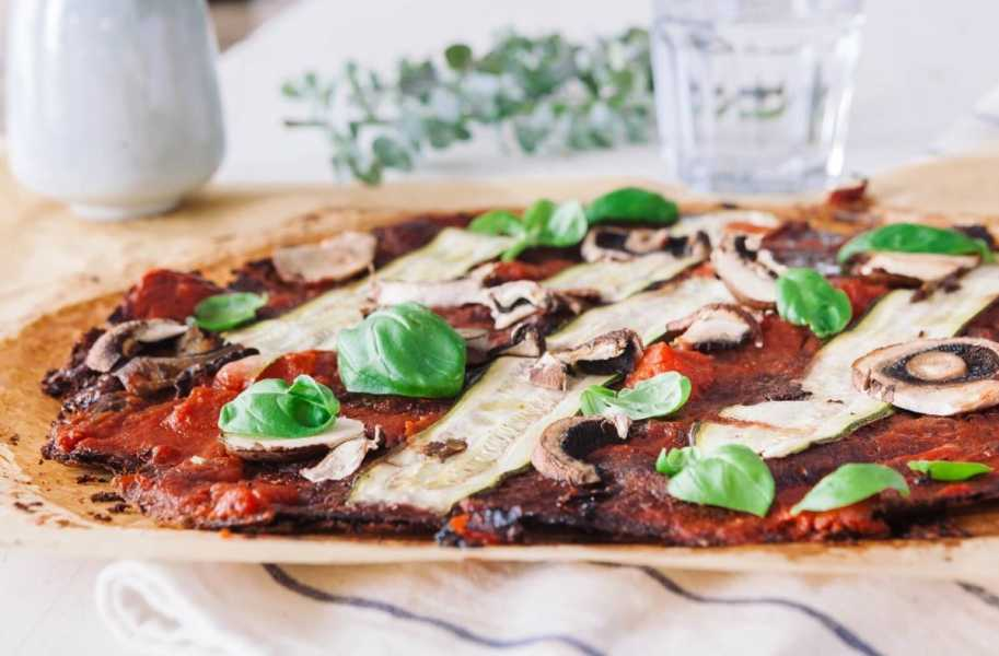 low carb gluten free cabbage pizza