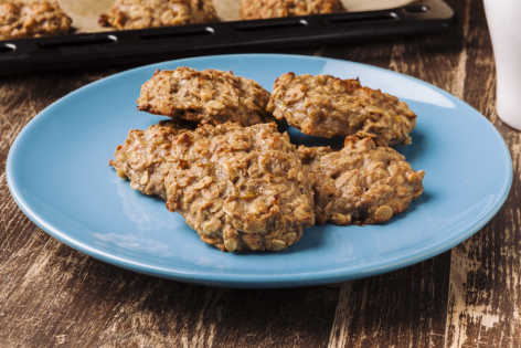 RECIPE 1093 peanut butter banana breakfast cookies
