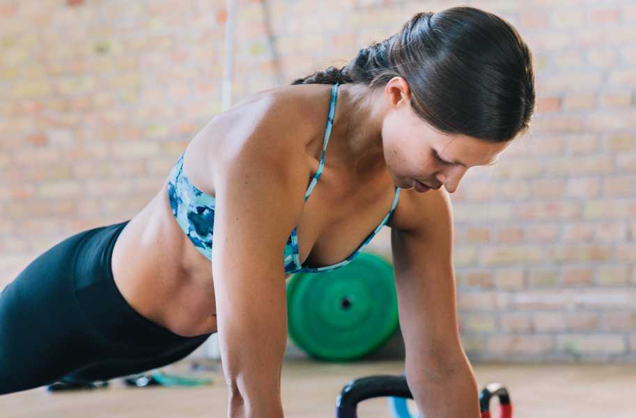 Fitness Female Indoors Plank Core Abs