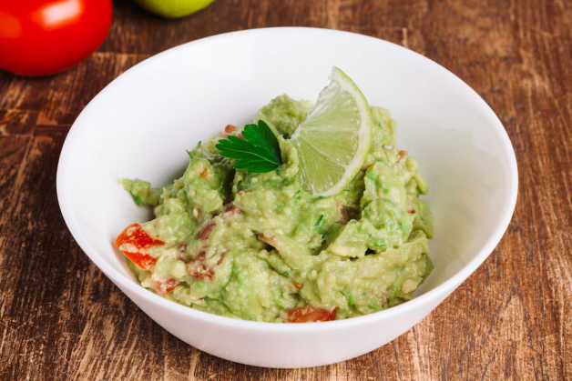 healthy self made guacamole