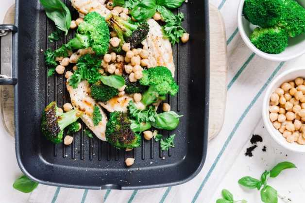 chickpeas with broccoli and -chicken recipe