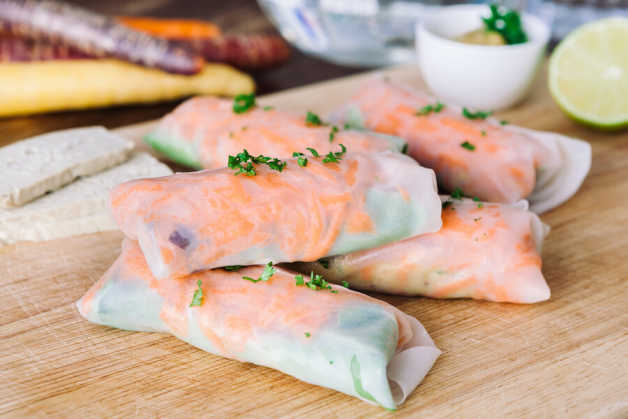 spring rolls with tofu