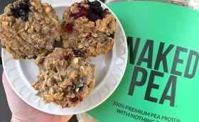 Pea Protein Powder Giveaway and Protein Muffin Recipe