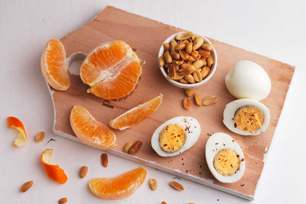 egg tangerine breakfast