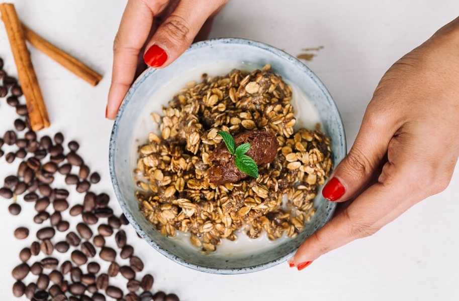 salted date and espresso overnight oats recipe
