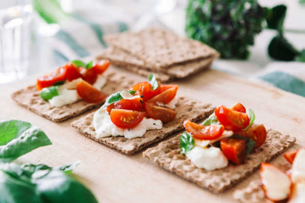 feta bruschetta with crackers recipe healthy