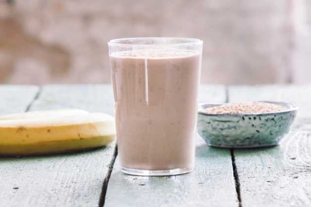 when to drink protein shake chunky sesame banana smoothie