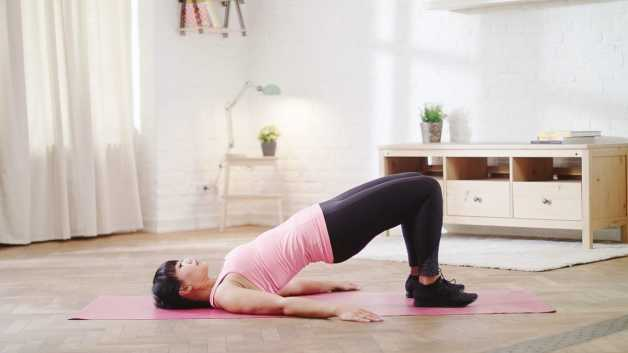 glute bridges home workouts marife