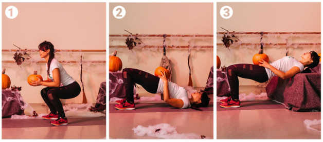 Halloween pumpkin workout in steps, Marife