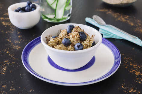 Blueberry flax quinoa