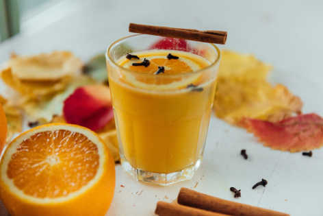 hot orange drink